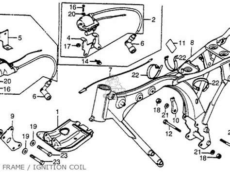 honda xr80 1983 d usa frame ignition coil buy frame honda xr80 1983 usa parts list partsmanual partsfiche