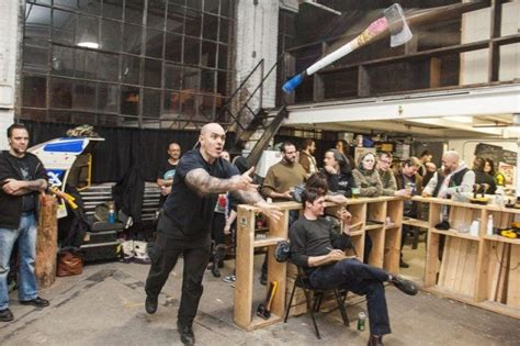 Backyard Axe Throwing Toronto by How Axe Throwing Became Toronto S Newest Homegrown Sport