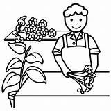 Florista Dibujos Colorear Profesiones Coloring Persone Floreros Fioraio Personas Oficios Dibujalia Tienda Bits Mestieri Guardado Desde Cz Colorare Infantil Categoria sketch template