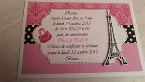 Theme Anniversaire Fille : 9 marvellous invitation anniversaire th me paris ~ Melissatoandfro.com Idées de Décoration