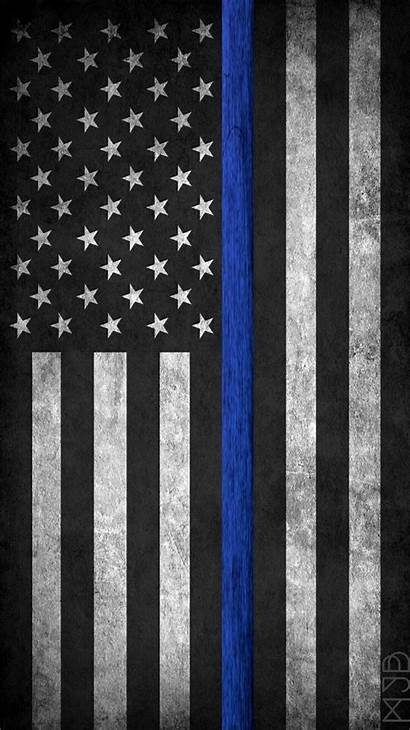 Flag Police Thin Line Enforcement Law American