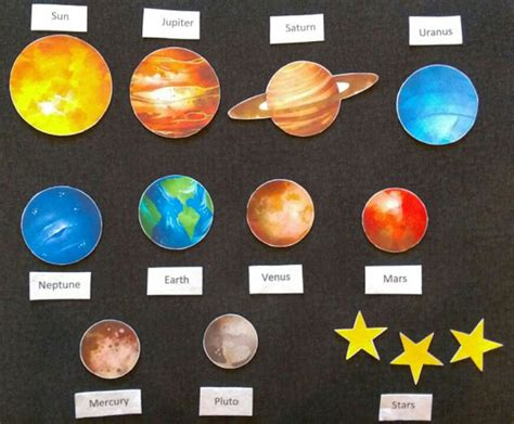 solar system planets felt board set children space 270 | c43400a66b84947b713ad89d6be05771
