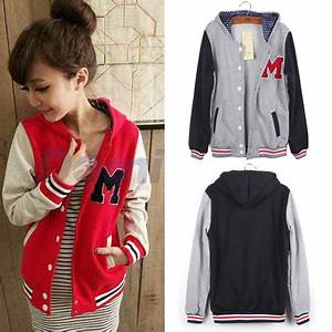 2015 women jacket spring letter m varsity jacket long With letter m varsity jacket