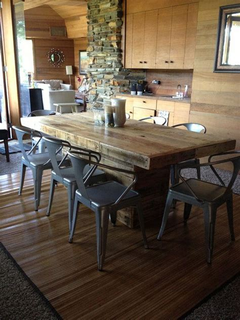 rustic dining table   reclaimed wood