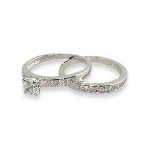 cz wedding ring sets simple channel set cz wedding ring set 39 s addiction