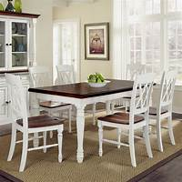 white kitchen table and chairs Home Styles Monarch 7 Piece Dining Table Set with 6 Double ...