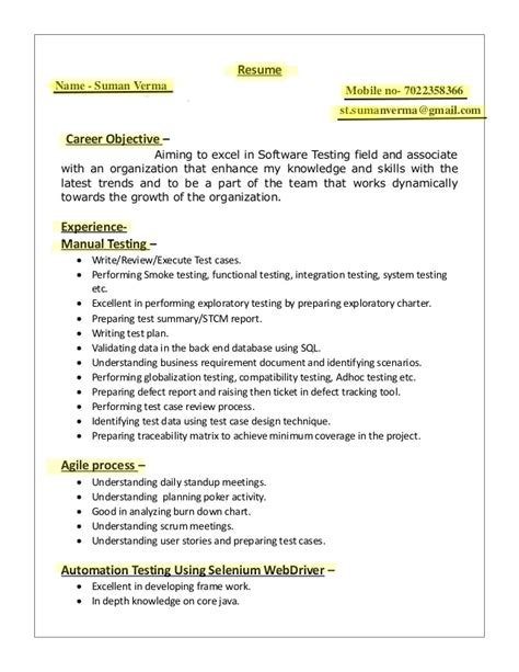 Resume Name Exles by St Resume