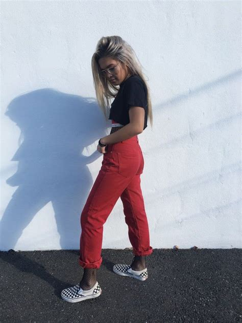 25+ best ideas about Red vans outfit on Pinterest | Red and black vans Skater girl outfits and ...