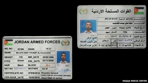 The first kind of military id card to mention is called a common access card (cac). Jordan confirms pilot captured by Islamic State   World Defense