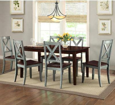 farmhouse dining table set rustic country kitchen  piece