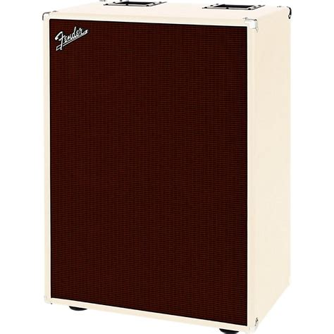fender bassman 610 6x10 bass cabinet blonde oxblood