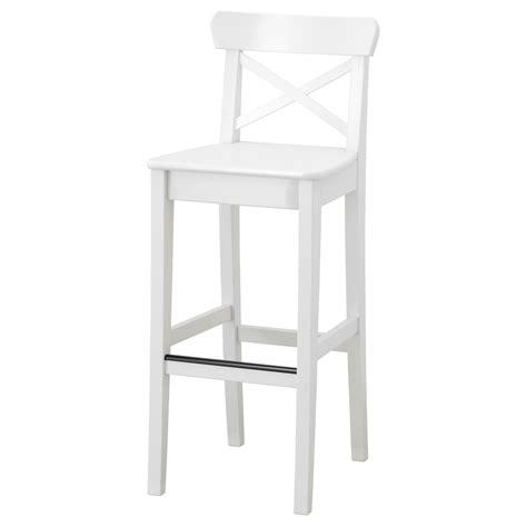 chaise de bar vintage ingolf bar stool with backrest white 74 cm ikea