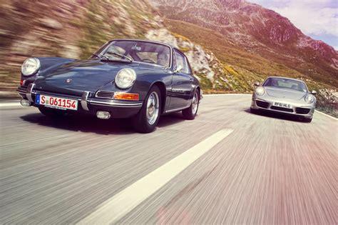 old porsche old meets new porsche 911 twin test 1965 911 vs 2012