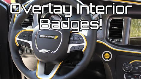 dodge charger scat pack custom interior badges youtube