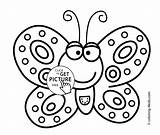 Butterfly Coloring Pages Colouring Printable Smiling Sheets 4kids Kindergarten Printables Pic Easy Simple Drawings Clipart Drawing Sheet Kid Clip Child sketch template