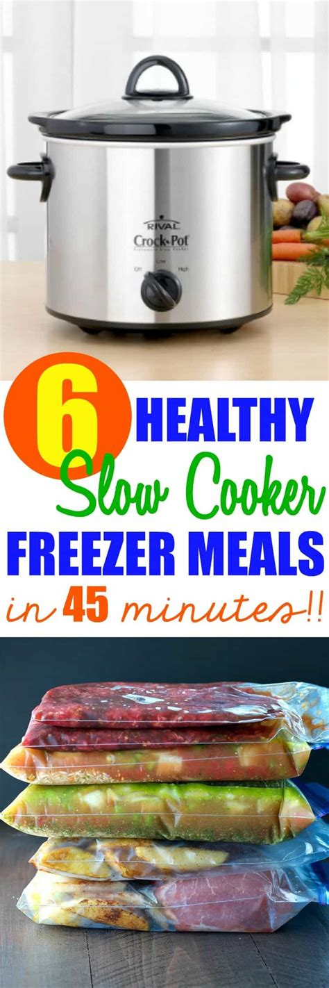 cooker slow healthy meals freezer pot crock minutes dinners recipes crockpot printable apples spiced pork dinner easy shopping cooking prep