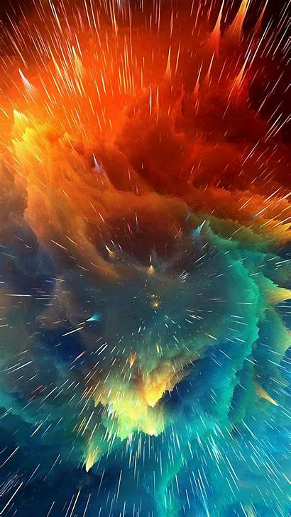 Cosmic Explosion Bright Lines Galaxy Wallpapers Colorful
