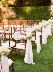 outdoor wedding aisle decor 8 awesome and easy ways to decorate wedding chairs