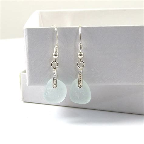 seamist color sea mist colour sea glass and sterling silver drop
