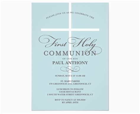 15+ First Communion Invitation Designs and Examples PSD
