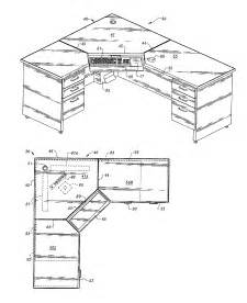patent us6953231 computer corner desk with wire