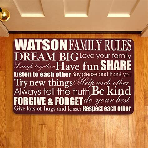 Family Doormat by Personalized Doormats Welcome Mats Personal Creations