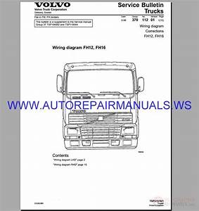 Volvo Fh12-16 Trucks Wiring Diagram Service Manual