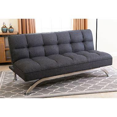 click clack futon belize gray click clack futon sofa bed sam s club