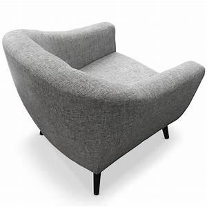 Fauteuil Gris Clair : fauteuil nordique en tissu gris clair ~ Teatrodelosmanantiales.com Idées de Décoration