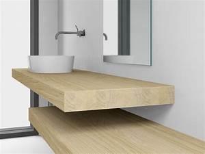 Konsole Für Waschbecken : waschtischkonsole 8 cm aus eiche massivholz nach ma ~ Markanthonyermac.com Haus und Dekorationen