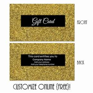 Make A Gift Certificate Free Gift Card Template