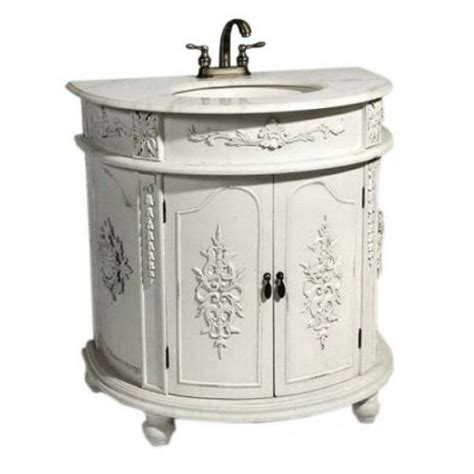 shabby chic white bathroom vanity discover and save creative ideas