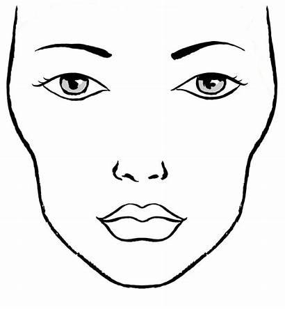 Makeup Paper Gesicht Malen Looks Face Chart