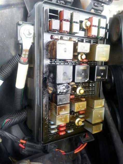 pontiac grand prix fuse box melted electrical fire