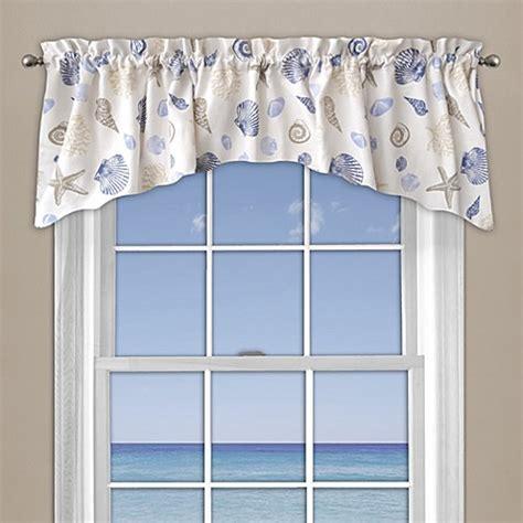 seashore coral window curtain valance  blue bed bath