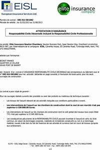 Responsabilite Civile Auto : attestation d assurance responsabilit civile d cennale incluant la responsabilit civile ~ Gottalentnigeria.com Avis de Voitures