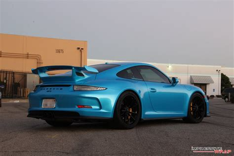 porsche gt3 rs wrap pearl bahama blue porsche 911 gt3 rs looks smashing with