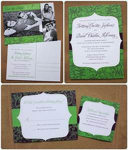 apple green eggplant purple floral pattern and modern With wedding invitation designs apple green