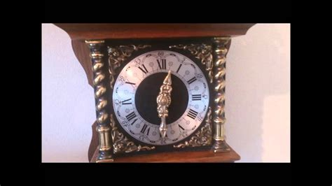 Old Dutch Large Rare Oak Wood Zaanse Wall Clock Bim Bam