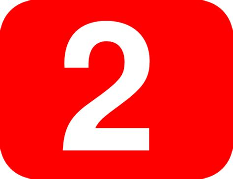 Number 2 Red Background Clip Art At Clker.com