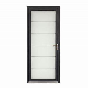 porte d39entree alu alana gris castorama With porte d entrée aluminium castorama