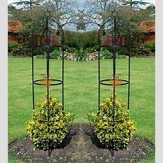 2 X 19m Outdoor Garden Green Metal Obelisk Climbing Plant