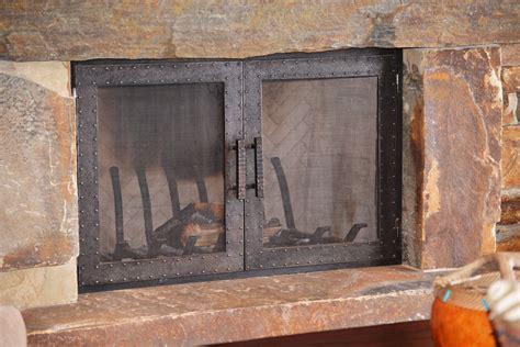 Fireplace Screens And Doors Photos Wall And Door Tinfishclematiscom