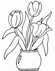 Giochi e lavoretti per bambini Disegni da colorare: Fiori nel giardino di Primavera