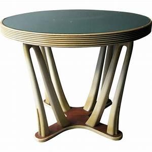 Table Basse Vintage Bois : table basse vintage en bois et plateau en verre design market ~ Melissatoandfro.com Idées de Décoration