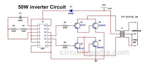 Inverter Circuit Diagram Using