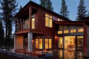 Maison Préfabriquée En Bois : maison bois pr fabriqu e en montagne par studio sagemodern ~ Premium-room.com Idées de Décoration