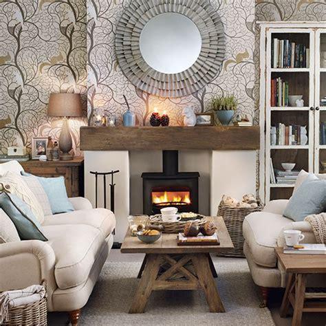 cosy woodland theme living room home  garden