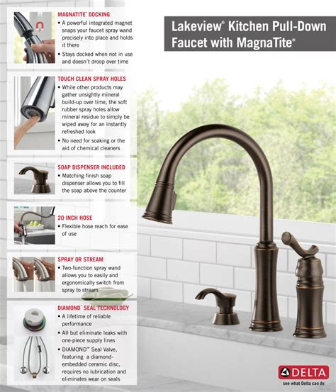 delta lakeview faucet bronze delta lakeview single handle pull sprayer kitchen