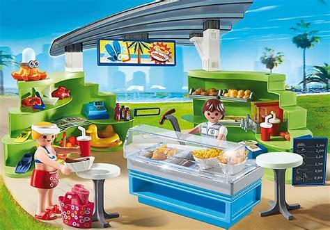 Espace Boutique Et Fastfood Playmobil Vacances été 6672